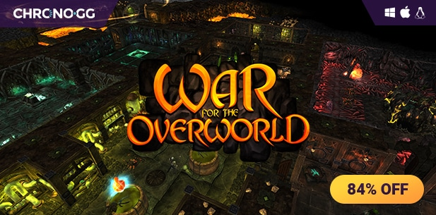 [Chrono.gg] War for the Overworld ($4.79 / 84% off)
