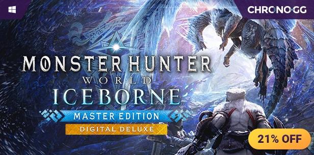[Chrono.gg] MONSTER HUNTER WORLD ($18.99 / 37% off) | MHW Iceborne Master Edition ($44.99 / 25% off) | MHW Iceborne Master Edition Deluxe ($54.99 / 21% off)